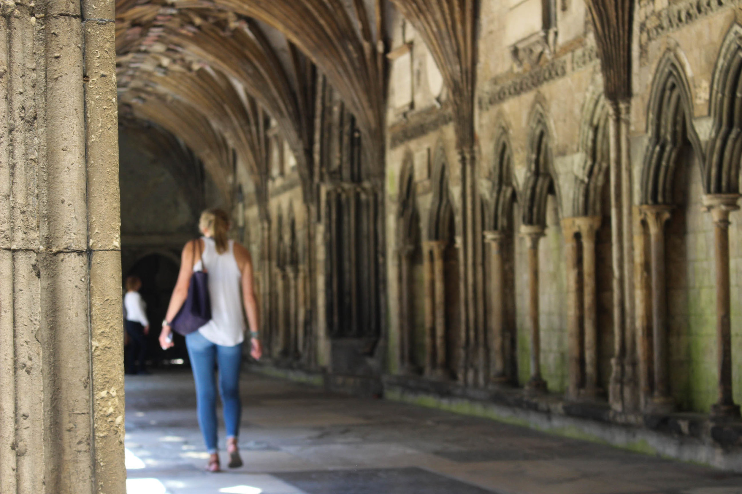 Laura Johnson at Canterbury Cathedral | Photo by Jessica Mathews