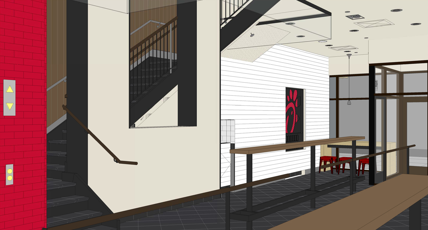 Mock-up of the inside of the new restaurant.