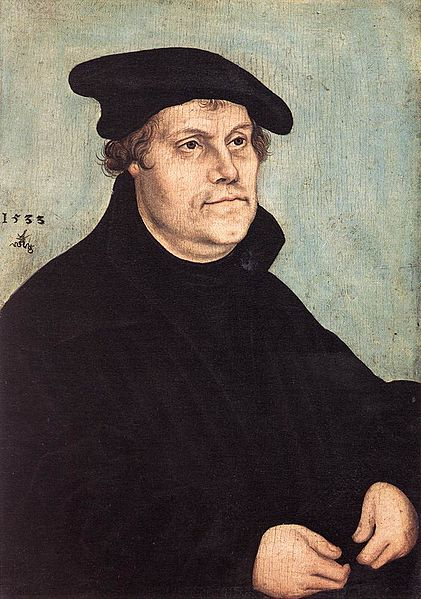 """""""Martin Luther at the Age of 50"""" painted by Lucas Cranach the Elder, 1533   Photo from Wikimedia Commons"""