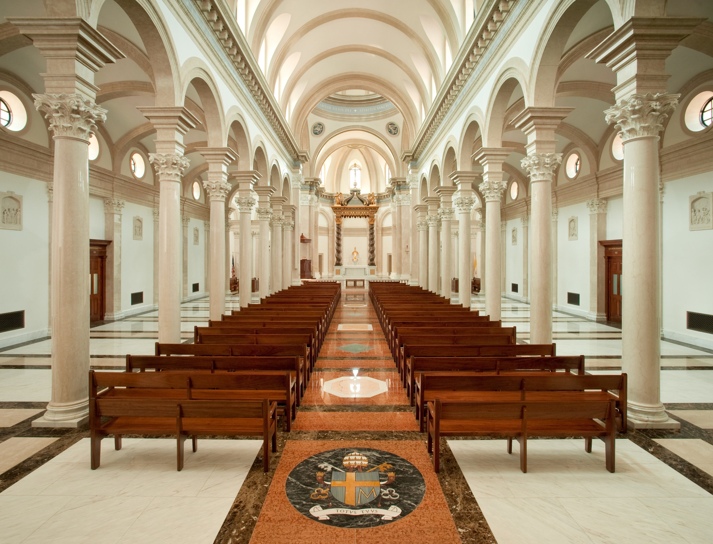 Interior of the Our Lady of the Most Holy Trinity Chapel | Photo courtesy of Thomas Aquinas College.