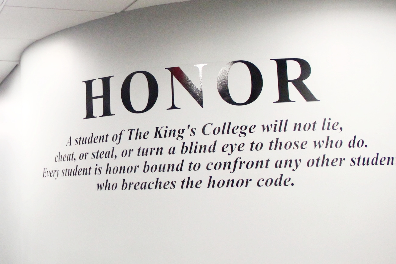 The Honor Code is shown around campus. II Photo Credit: Bernadette Berdychowski