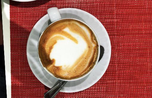 A cappuccino in Israel || Photo Credit: Savannah White