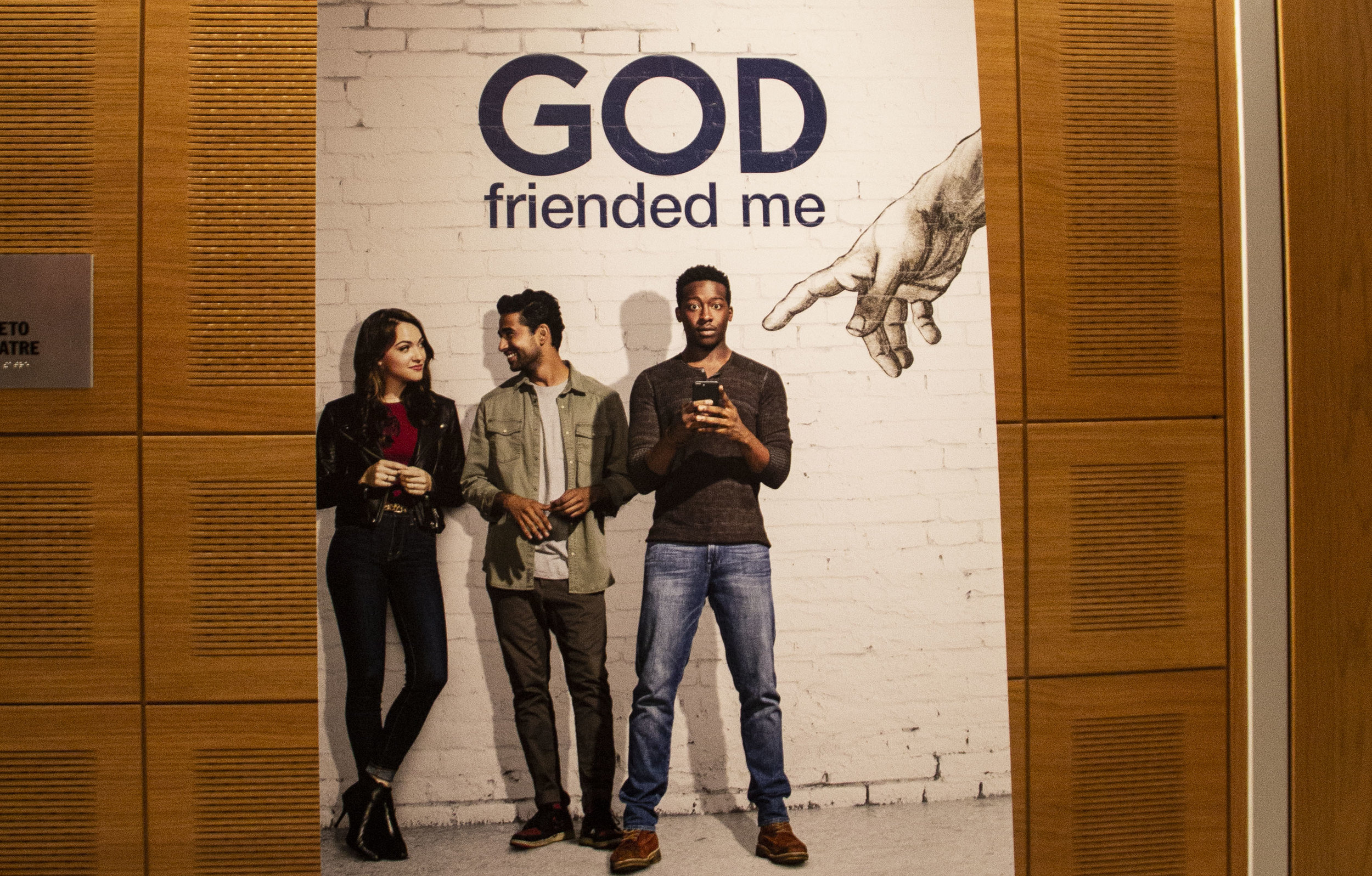 """The Sheen Center for Thought and Culture held a preview of the """"God Friended Me"""" pilot episode on Sept. 26, 2018. 