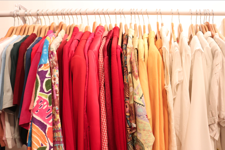 Clothing rack at Awoke Vintage || Photo credit to Rachel Freeman