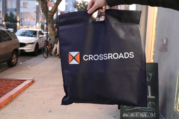 Crossroads reusable bag. || Photo credit to Rachel Freeman