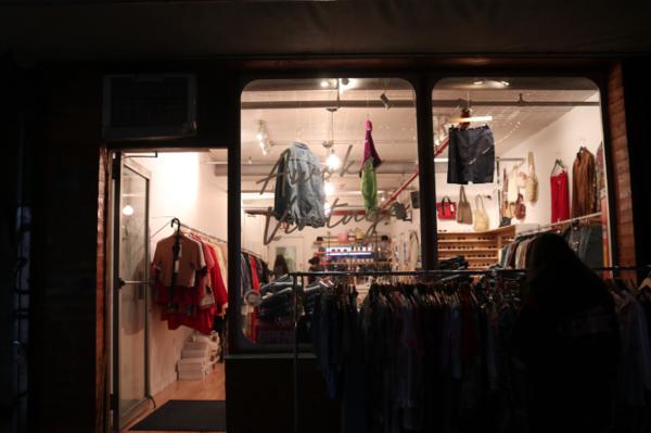 Storefront of Awoke Vintage. || Photo credit to Rachel Freeman