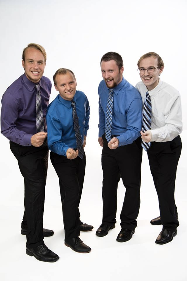 """Pictured here: Taylor Eaton, Ross Delong, Jacob Nolan, and Luke Borchelt. 