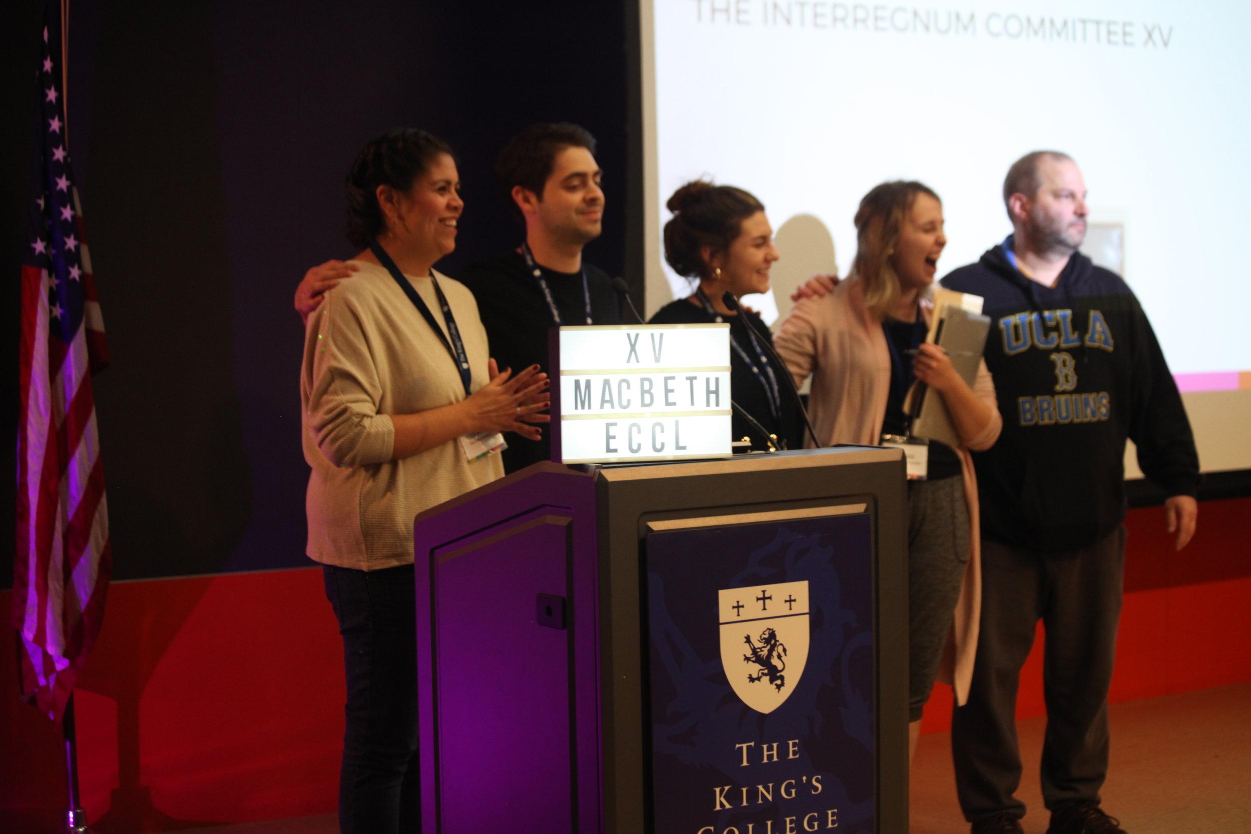 The Interregnum Committee.    Photo credit to Elli Esher.