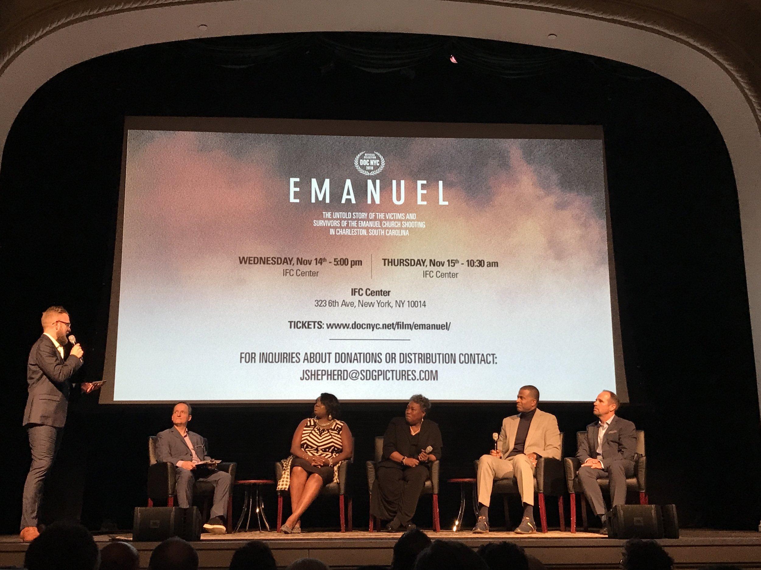 """Emanuel"" private film screening. || Photo credit to Anastassia Gliadkovskaya."