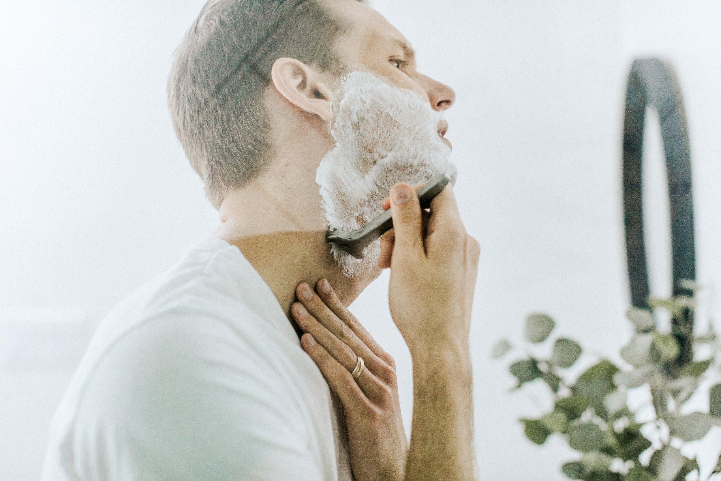 Man shaving his beard. || Photo credit to  Patrick Coddou  on  Unsplash
