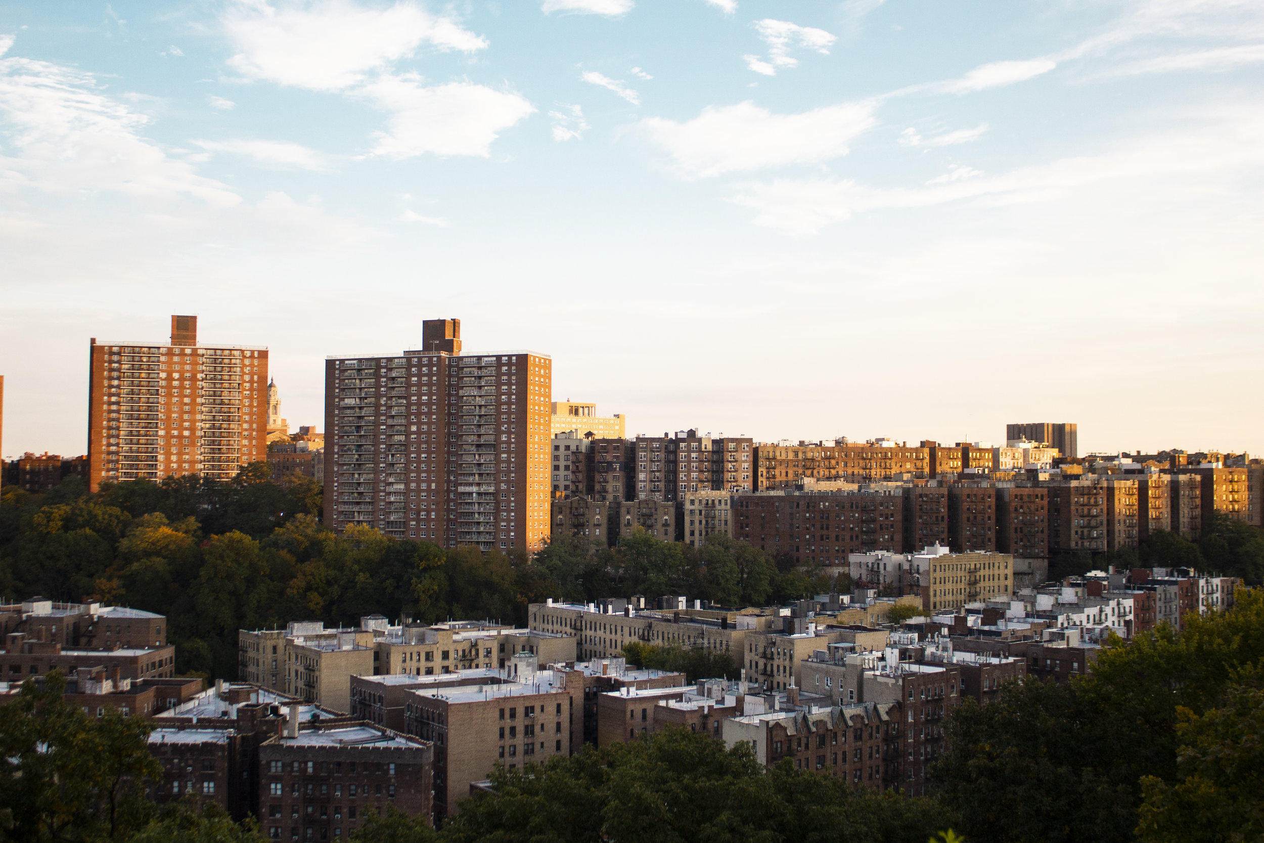 Upper Manhattan from Fort Tyron Park.    Photo credit to Bernadette Berdychowski.