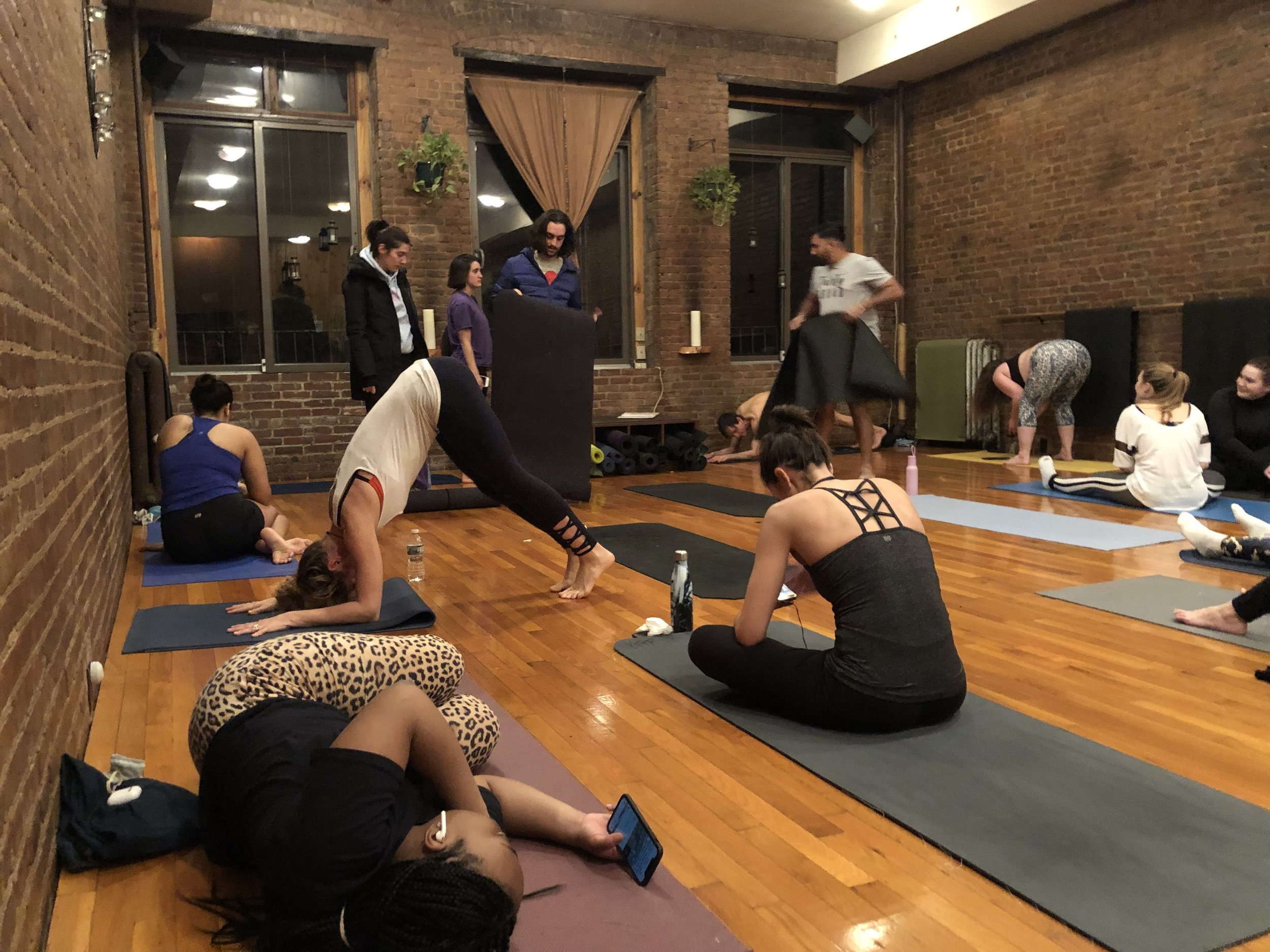 People gather at Yoga to the People, where students at Kings regularly workout. || Photo credit to Sydney Powell