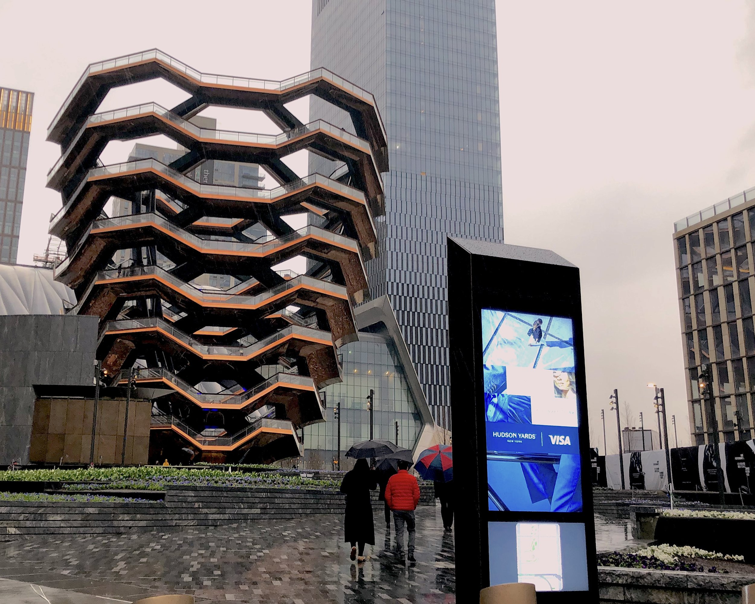 The Vessel, located at the Hudson Yards, has become the unique spot for pictures and hanging out. || Photo credit to Lauren Bannister