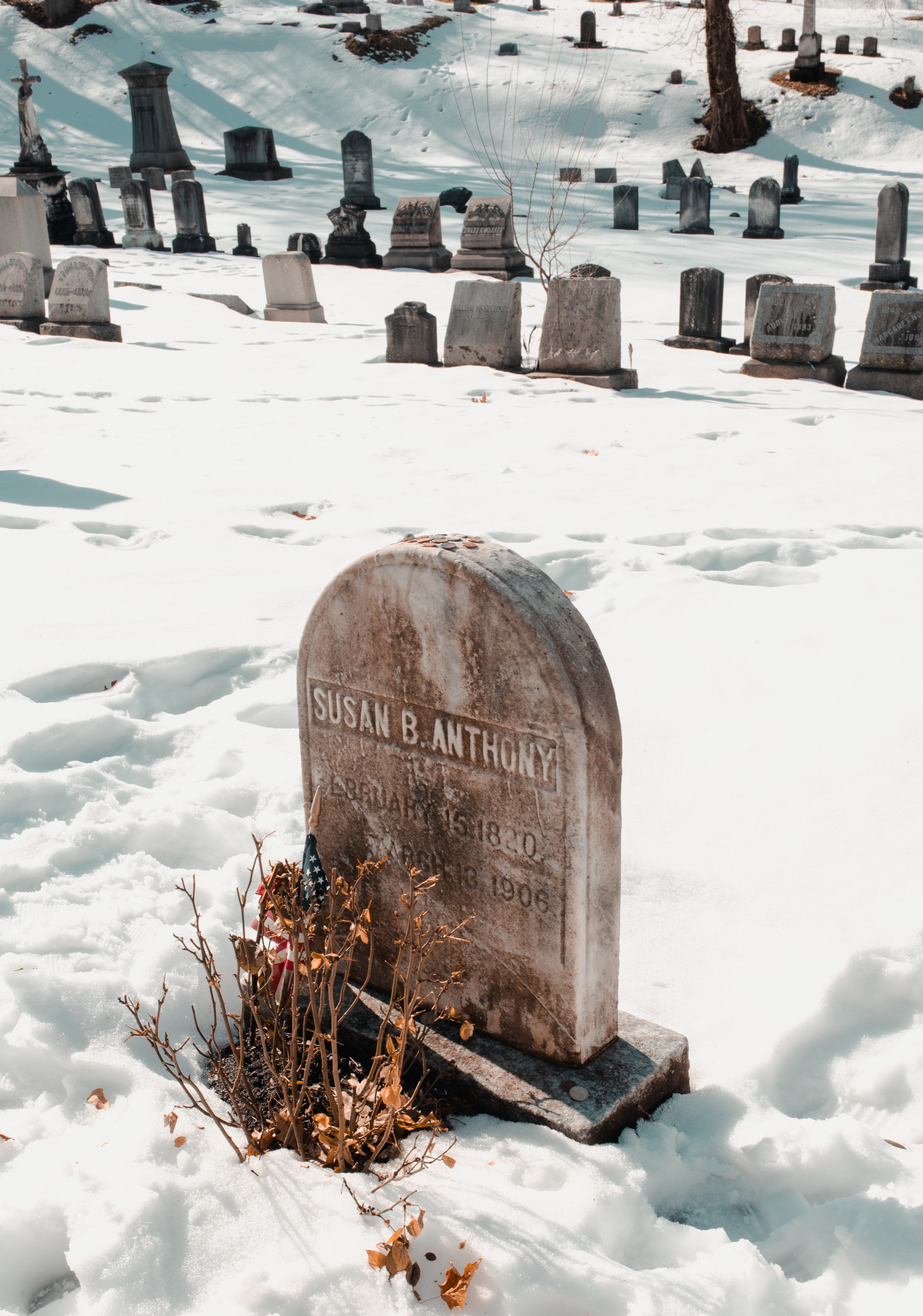 The grave of Susan B. Anthony located in Rochester. || Photo credit to Marina Barham