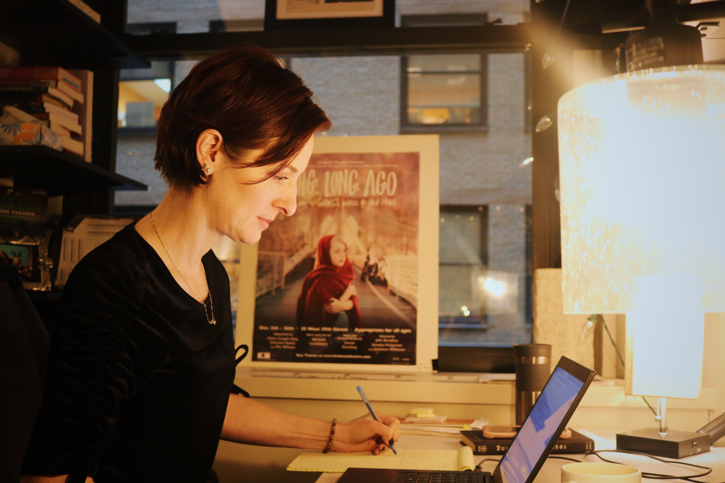 Cragin-Day works by the glow of the fairy lights strung around her desk. || Photo credit to Rachel Freeman