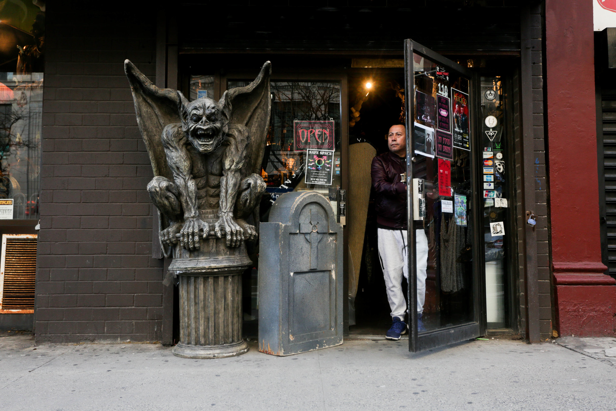 Goth Renaissance is New York's premier one stop shop for all goth and showtime needs. In New York on Saturday, March 31, 2019. || Photo credit to Wes Parnell for EST.