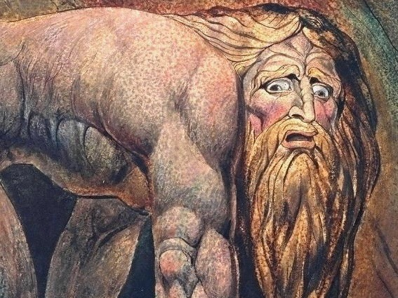 William Blake's 'Nebuchadnezzar' watercolor painting from 1795. || Photo contributed by Lilly Carman
