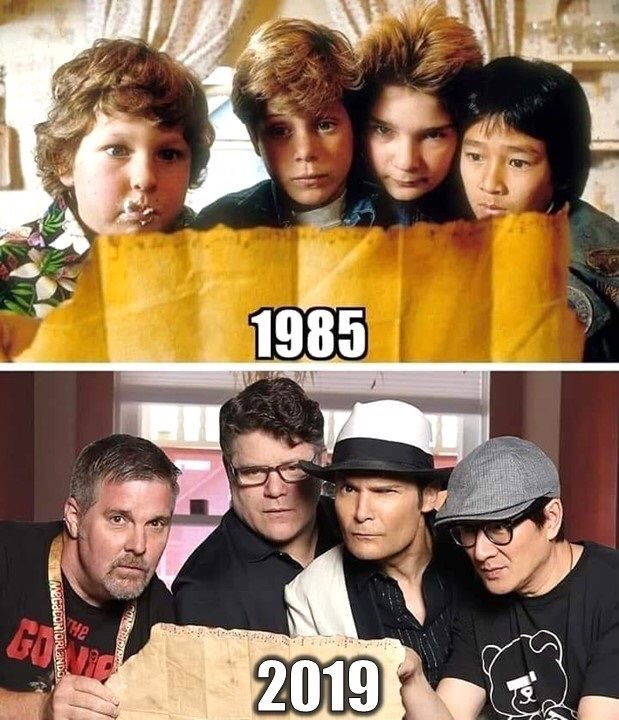The Goonies - 1985 and 2019