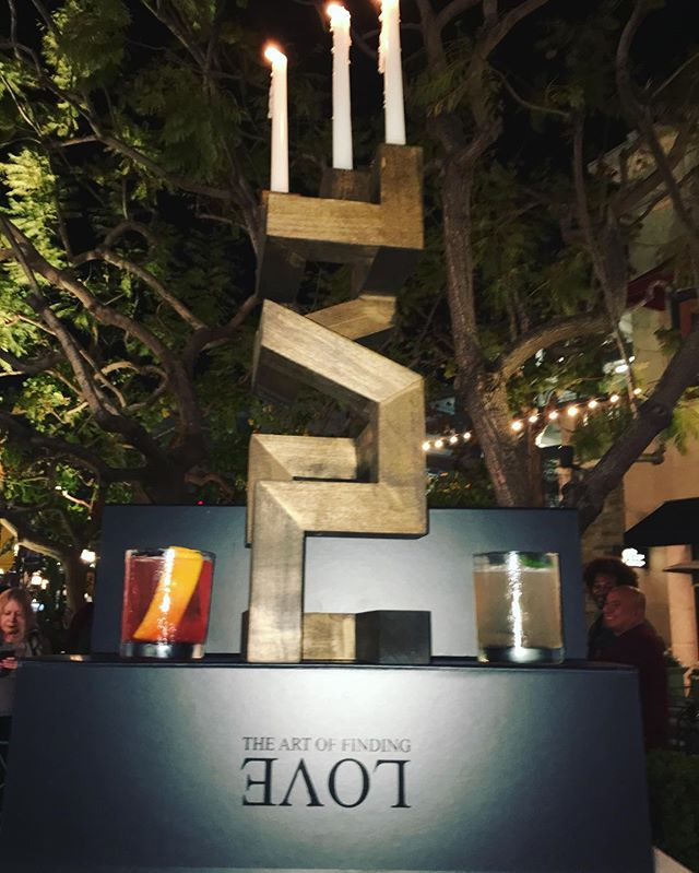 Last nights unveiling at @thegrovela. Drinks by @muddleandstir. #TheArtOfFindingLove #KalishArt.