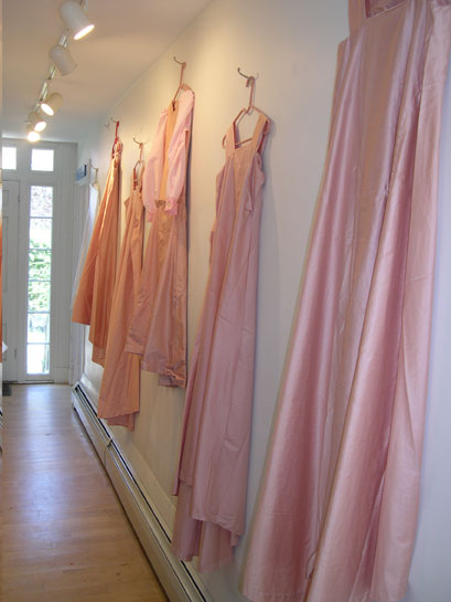 Installation of Pink Wedding Dresses