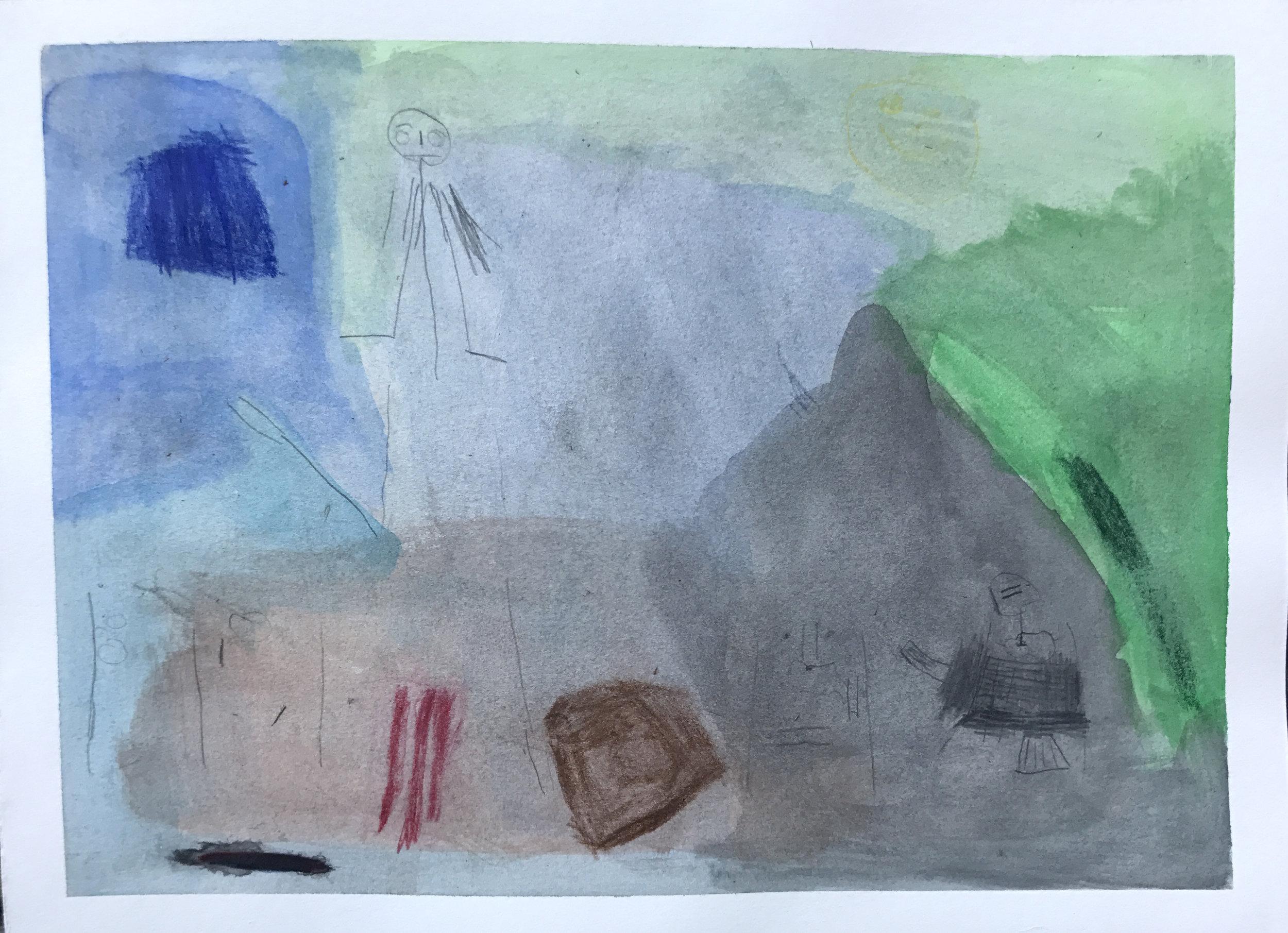 Untitled  - Watercolor - 2017 - Fiona Shea