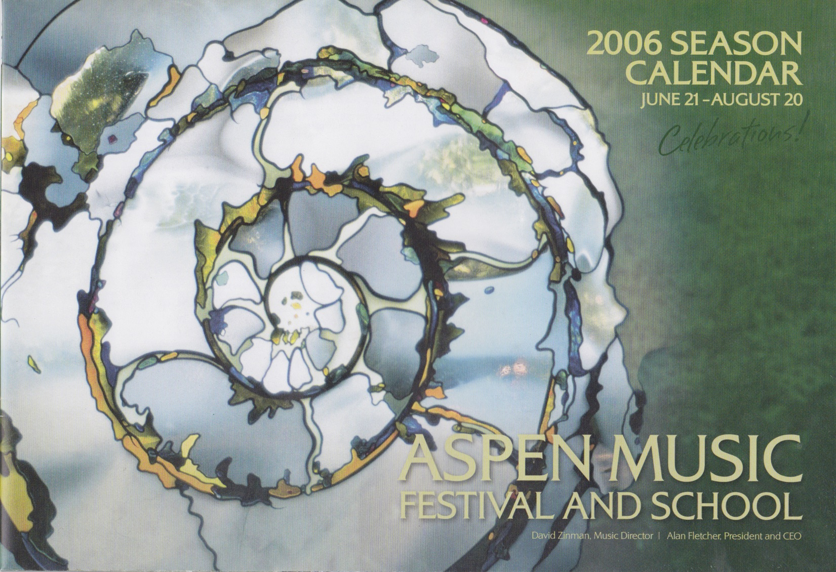 Aspen calendar (cover only)