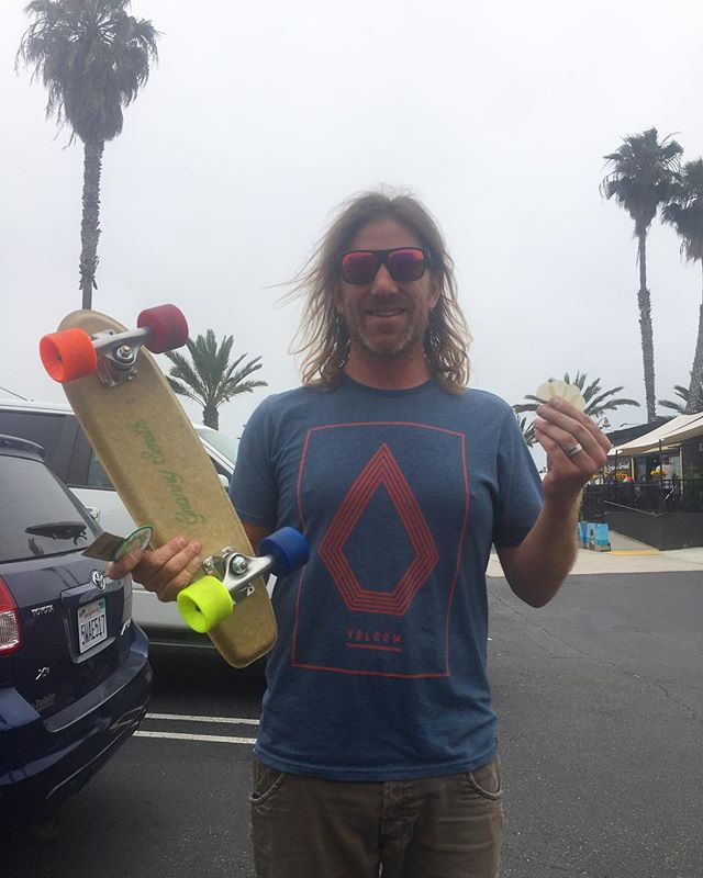 Stoked to finally meet  Adam with @entropyresins and get a Granny Smith board in his hands!  #sustainable #hemp #skate #california