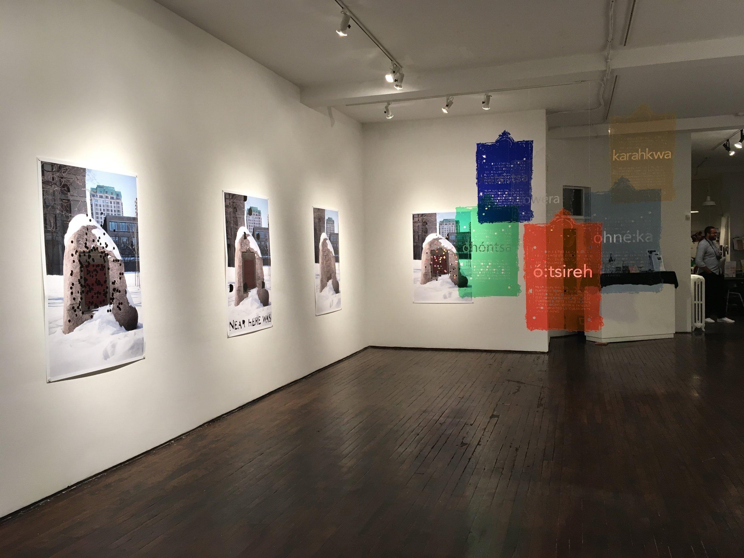 Hannah Claus, hochelaga rock exhibition (installation view at articule), 2017