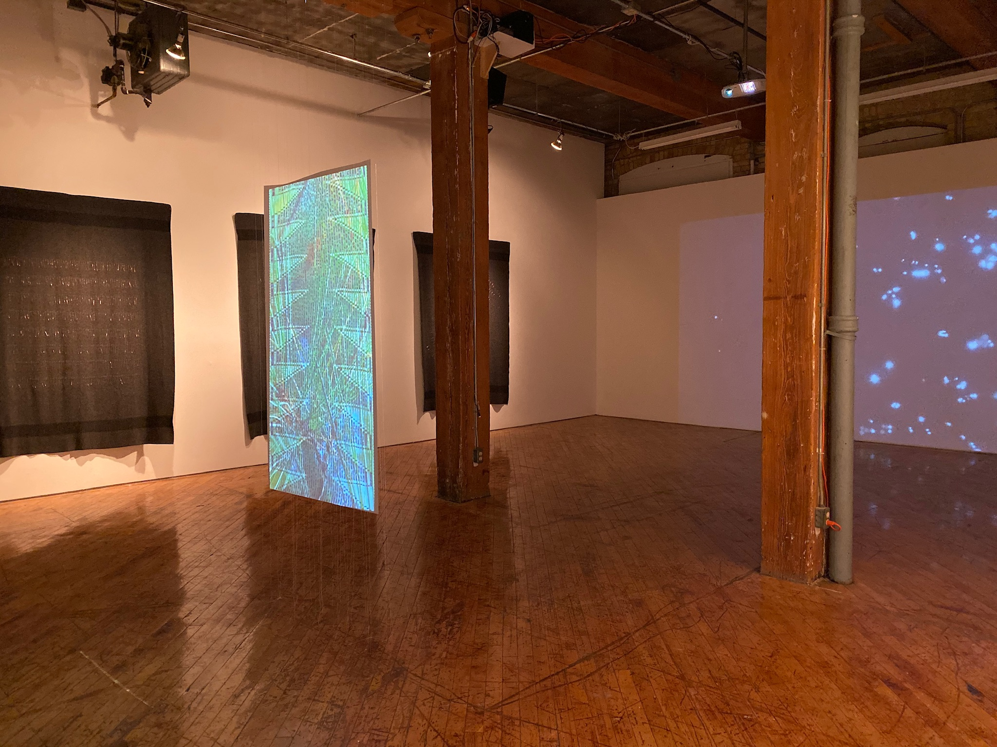 spatial codifications (exhibition view), Hannah Claus 2019