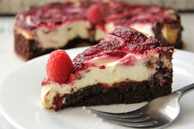 Raspberry Cheesecake Brownie from  DivaliciousRecipes .