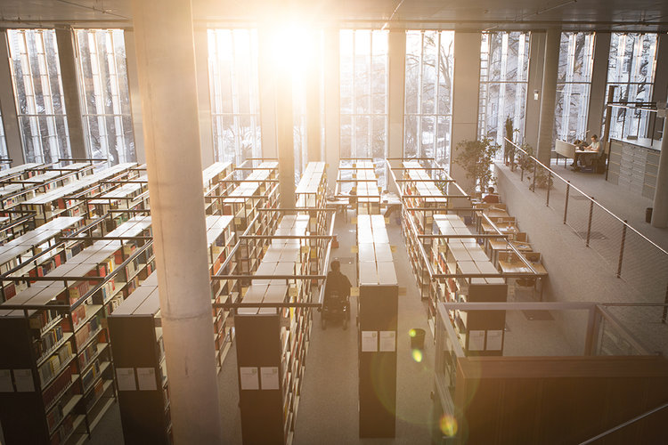 Johannes Mallow verbringt heute immer noch viel Zeit in der Bibliothek der Universität. Dort findet er Ruhe, um  sich zu konzentrieren und seine Gedächtnisübungen zu machen. Zahlreiche Wege in Magdeburg nutzt er für seine Gedächtnisstrategien. Foto: Philipp Claudio Sann