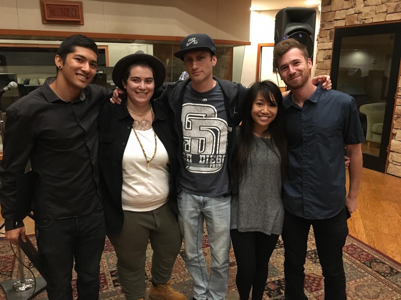 The Recording Arts Center graduates: Chankin Shan, Rachel Wasserman, Andrew Eisman, Abby Enriquez, Alex Boehnlein.