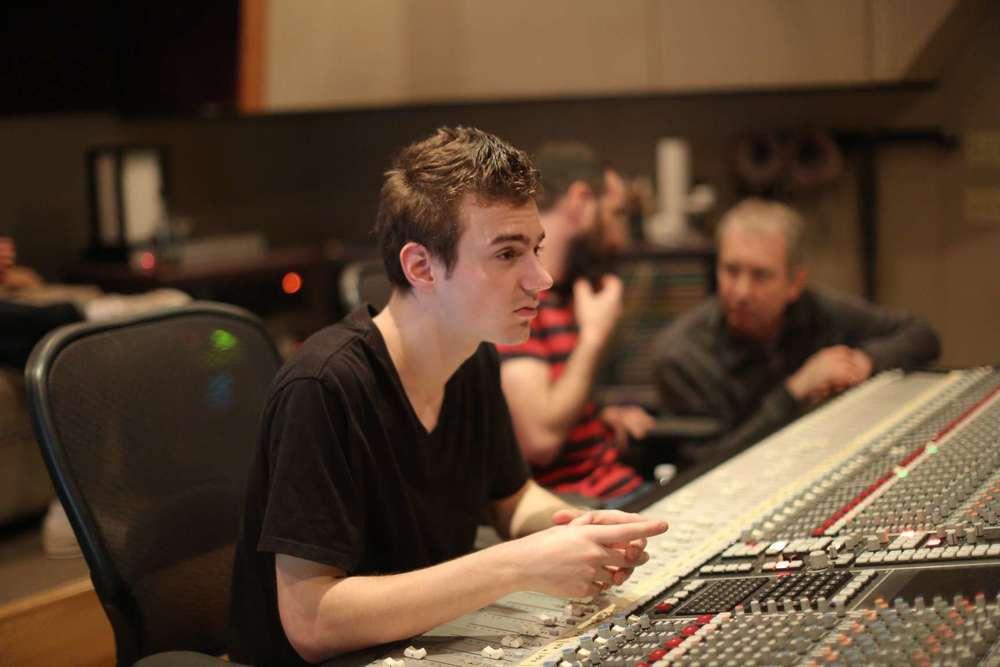Sam McCormick in Studio A at Studio West.