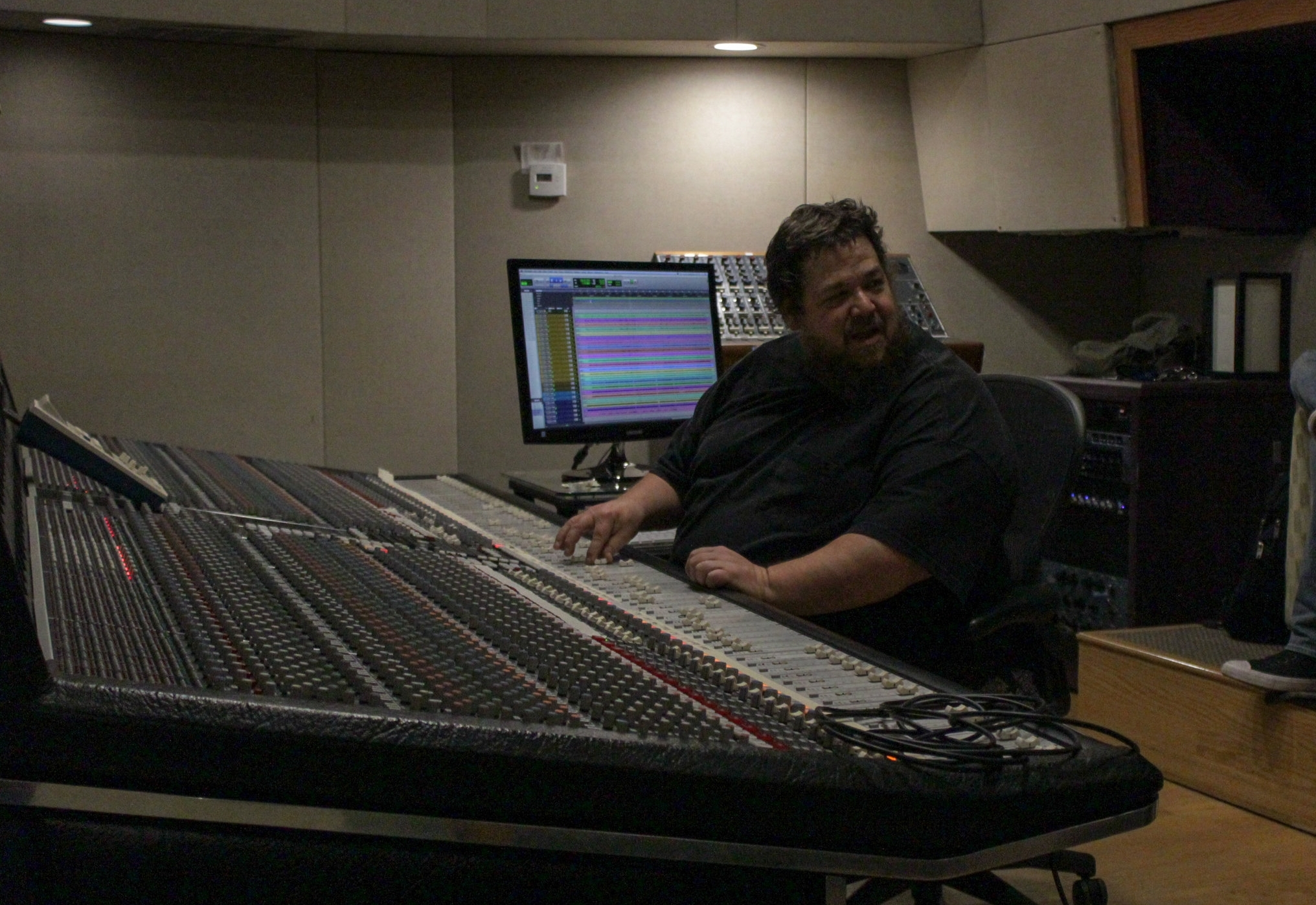 Producer Jeff Berkley working the SSL