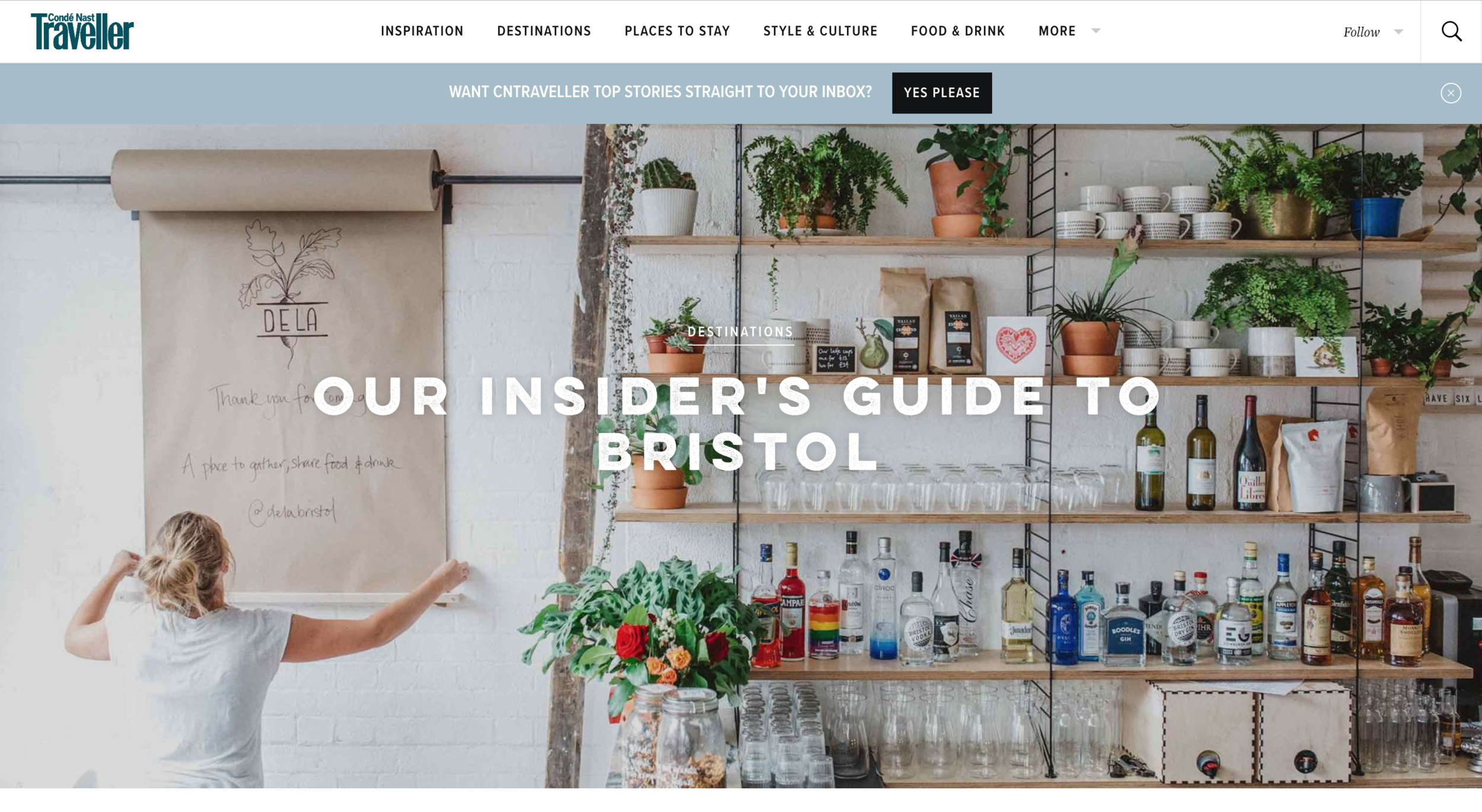 An image I shot for  Dela , featuring on the international homepage of  Condé Nast Traveller