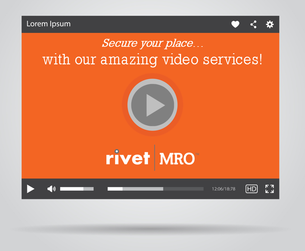 Check out Rivet|MRO productions for yourself...click on the image to view  our Vimeo page .