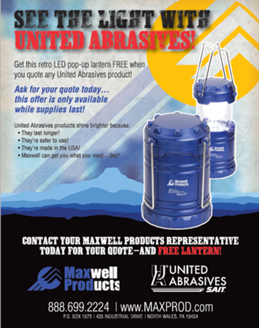 Maxwell United Abrasives Lantern Promo Flyer by Rivet MRO.png