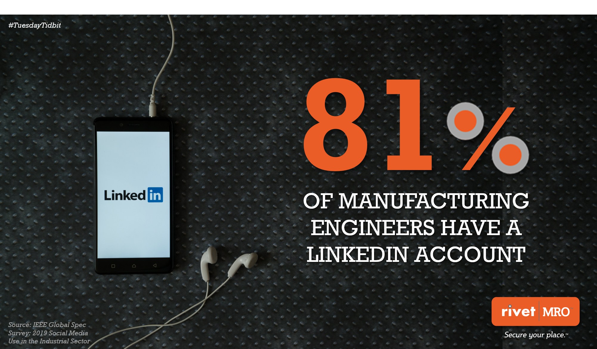 Manufacturing LinkedIn Tuesday Tidbit by Rivet MRO Industrial Marketing Agency and Distributor Co-op Marketing Consultant.png