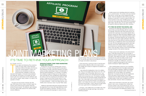 Joint Marketing Plan Article from Industrial Supply Magazine Covering Co-op Marketing for Indpendent Industrial Distributors