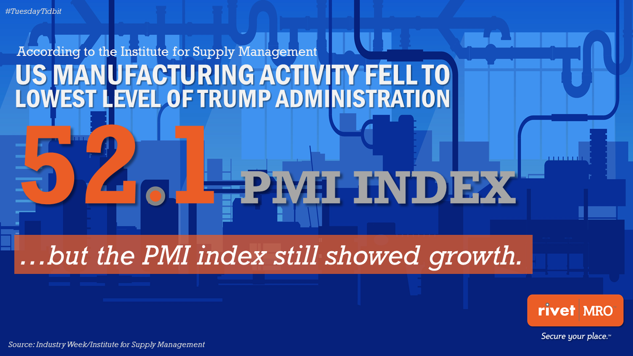 May 2019 PMI Slowing Growth Tuesday Tidbit by Rivet MRO Industrial Marketing Agency and Distributor Co-op Marketing Consultant.png