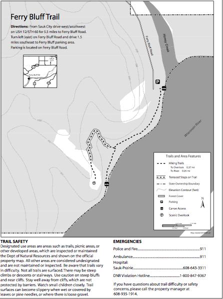 Ferry Bluff map