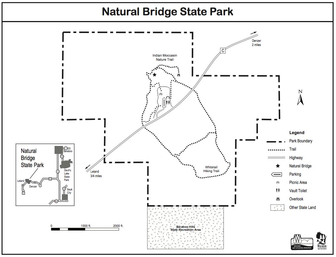 Natural Bridge State Park trail map