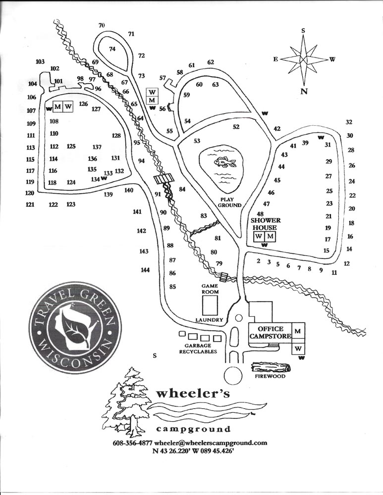 devils lake campground map Wheeler S Campground Quiet Woodsy Camping Near Devil S Lake devils lake campground map