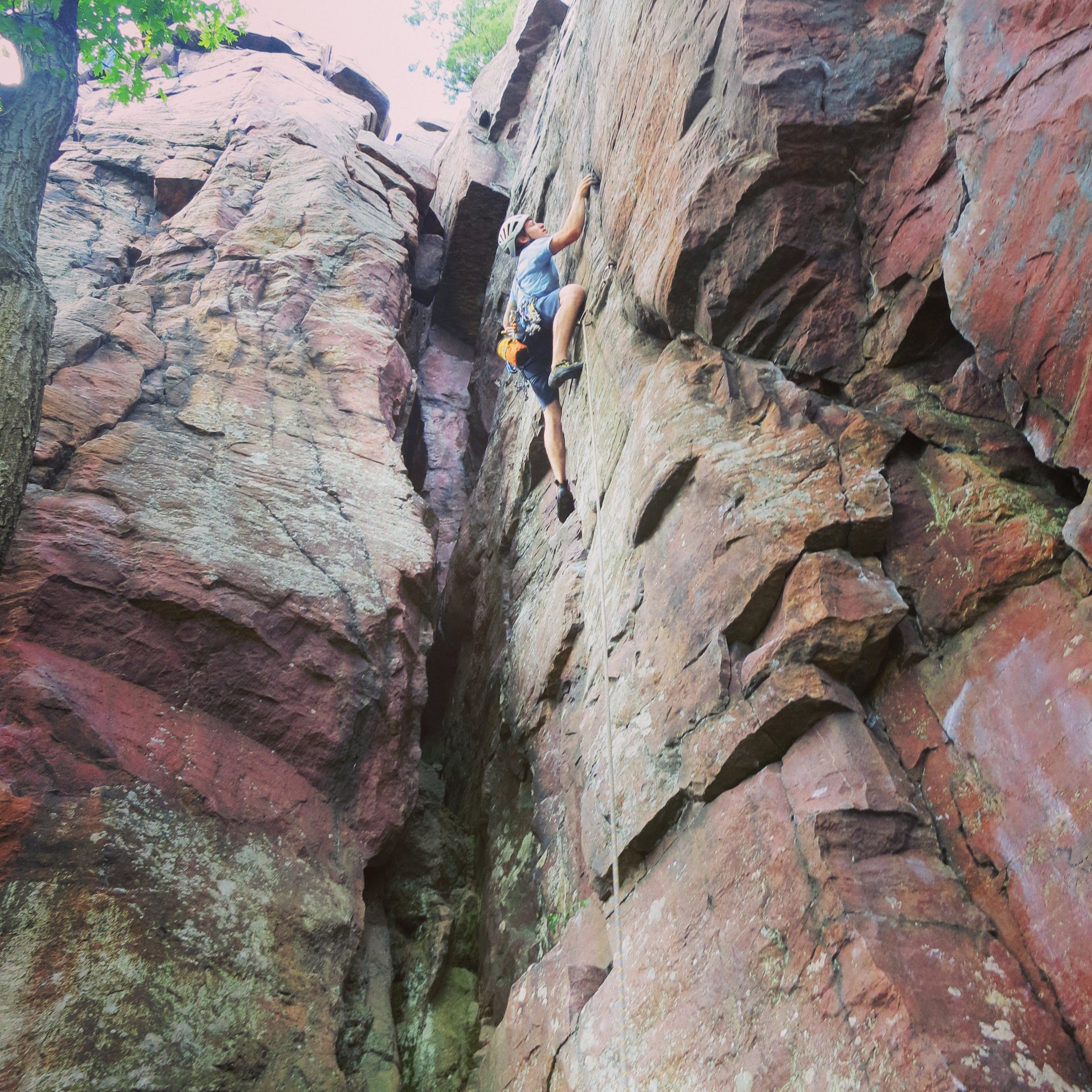 A hard won ascent of another Devil's Lake test piece - Thoroughfare (5.11a)