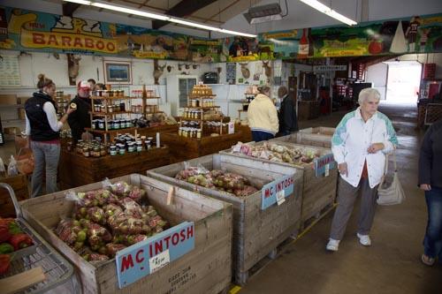 Huge bins of apples and more at Ski Hi Fruit Farm