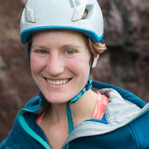 Devils Lake Rock Climbing Instructor, Kat Floyd
