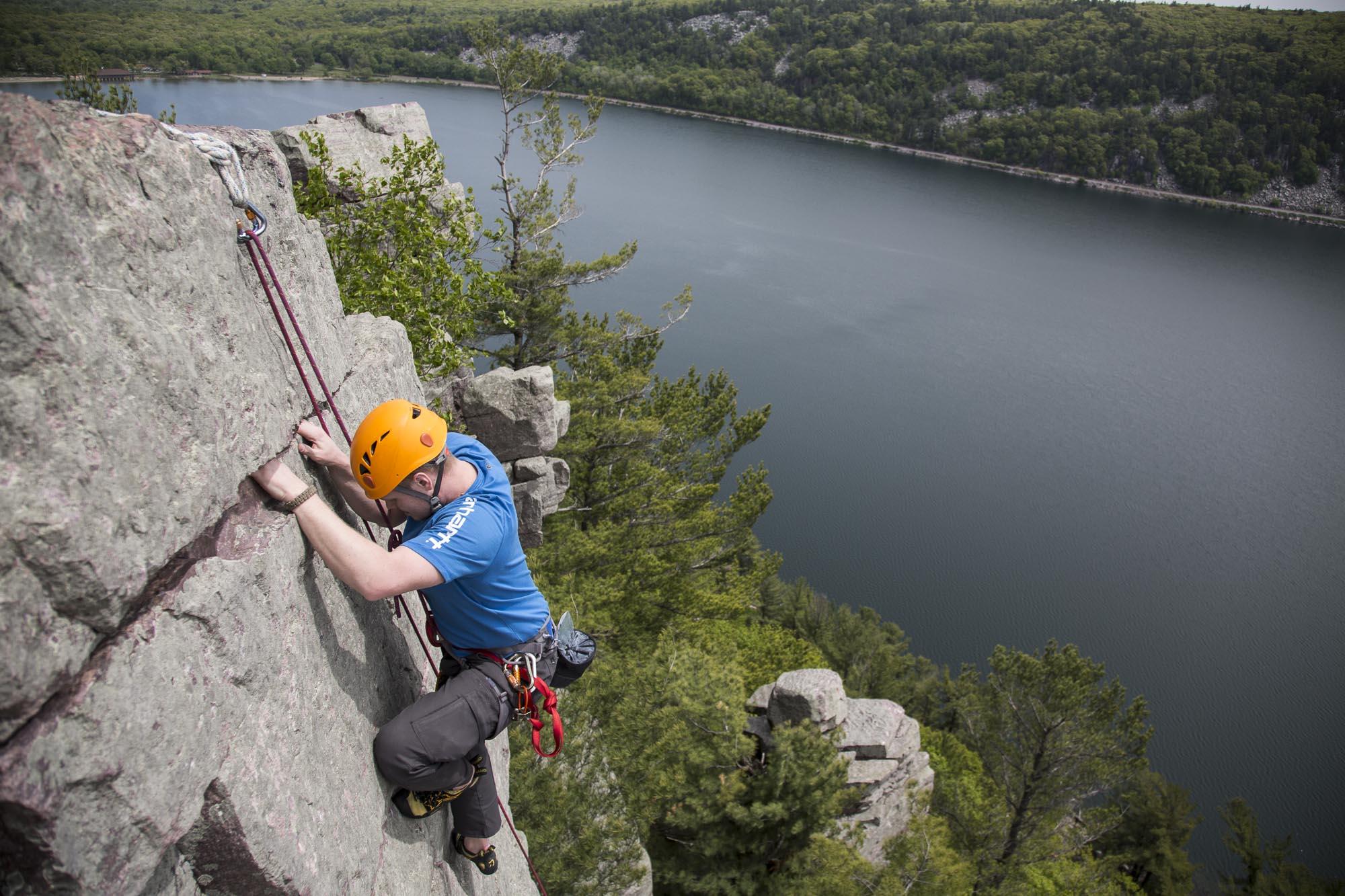 Devils Lake Climbing Guides Rock Climbing Bouldering In Wisconsin