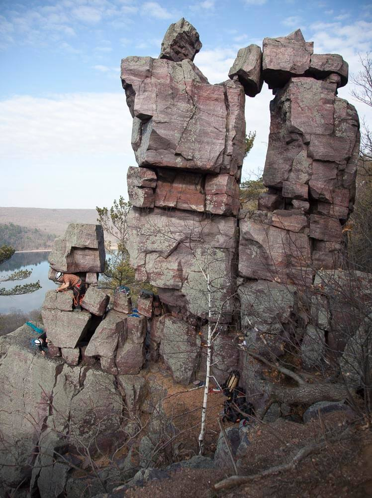 Climbers at Devil's Doorway