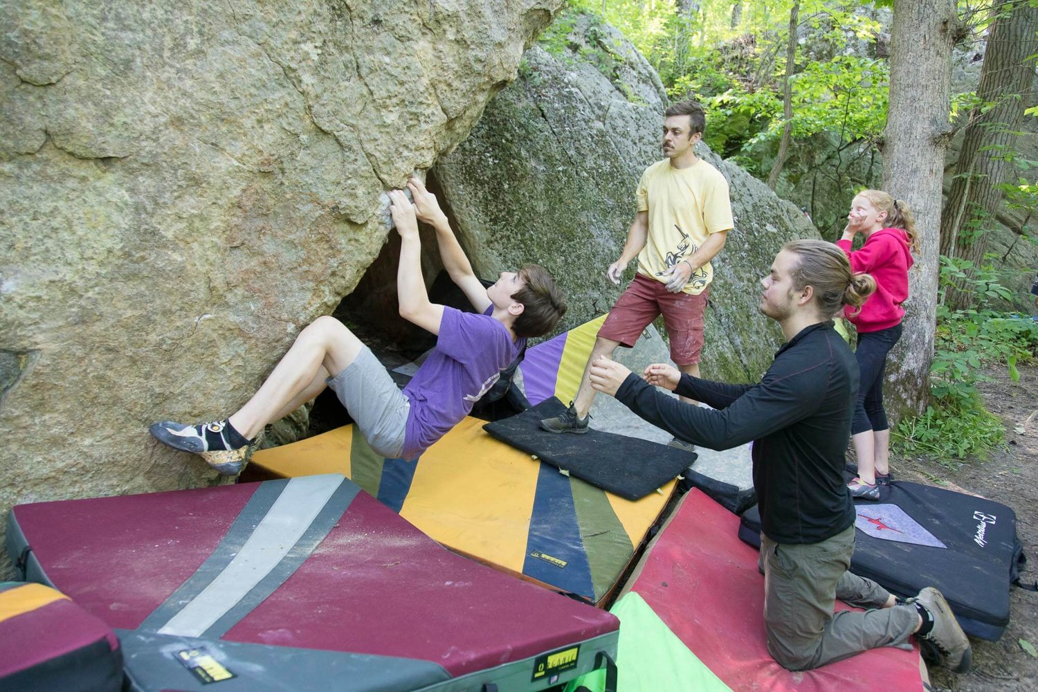 Overnight Rock Climbing Camp for Teens at Devil's Lake State Park
