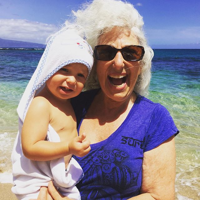 My mama and nephew Jace Orion Playing on Maui. Makes me smile every time I see it.